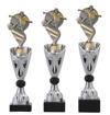 Sportprijzen Beker A325-PF200 Voetbal inclusief Gravering Zilver-Goud