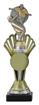 Sportprijzen Beker A324-PF200 Voetbal inclusief Gravering   met Zilver-Goud
