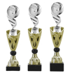 Sportprijzen Beker A326-PF129 Voetbal-Bal inclusief Gravering Zilver-Goud