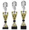 Sportprijzen Beker A326-PF127 Voetbal-Bal inclusief Gravering Zilver-Goud
