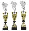 Sportprijzen Beker A326-PF128 Voetbal-Handschoen inclusief Gravering Zilver-Goud
