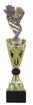 Sportprijzen Beker A326-PF228 Voetbal-Handschoen inclusief Gravering Zilver-Goud